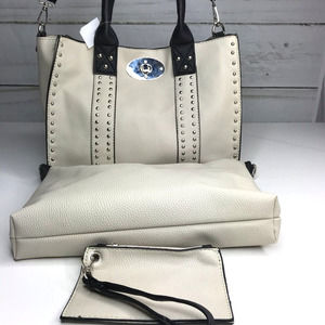 Bougie Booth Fashion Satchel Bag with Pouch NWT